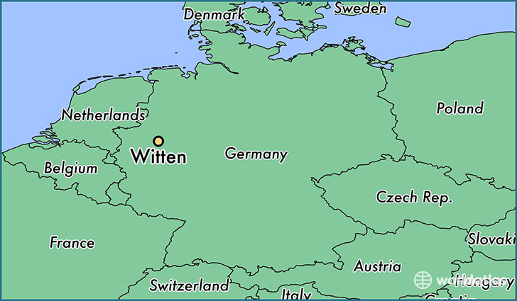 map showing the location of Witten
