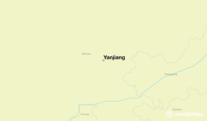 map showing the location of Yanjiang