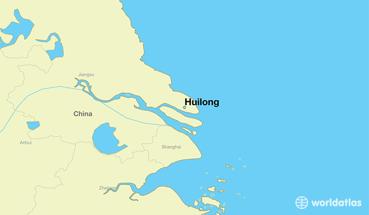 map showing the location of Huilong