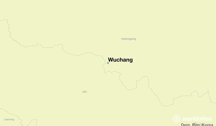 map showing the location of Wuchang