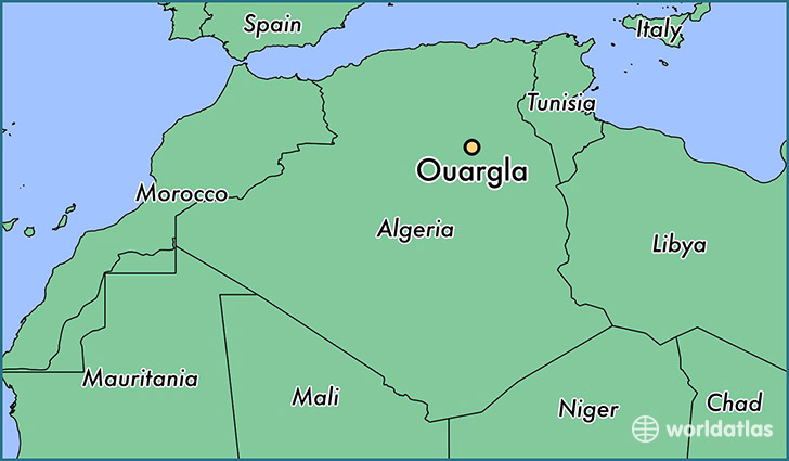 map showing the location of Ouargla
