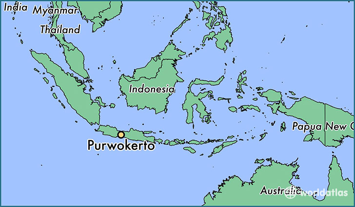 map showing the location of Purwokerto