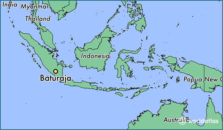 map showing the location of Baturaja