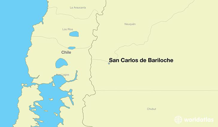 san carlos de bariloche argentina san carlos de bariloche rio negro map