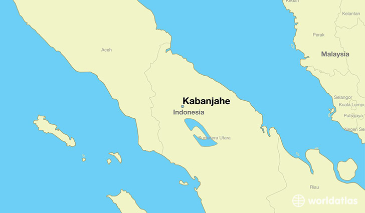 map showing the location of Kabanjahe