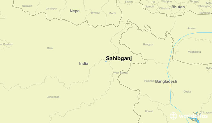 map showing the location of Sahibganj