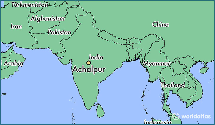 map showing the location of Achalpur