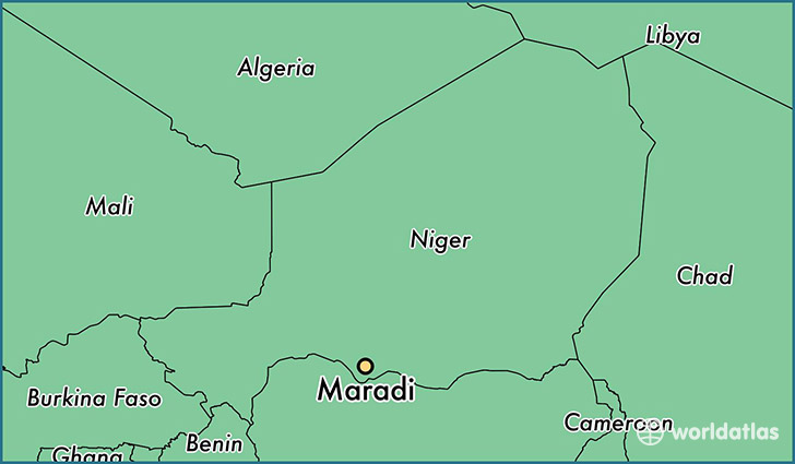 map showing the location of Maradi