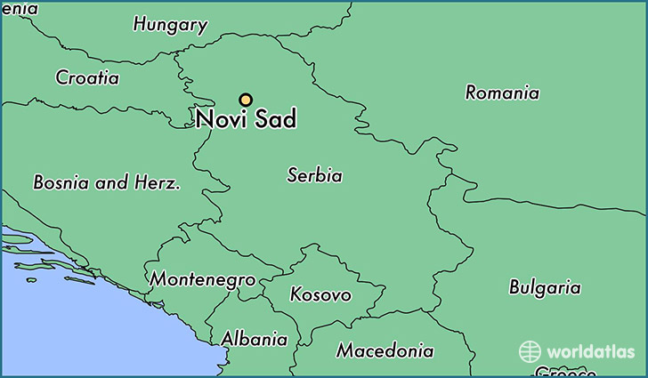 Where is Novi Sad Serbia Novi Sad Vojvodina Map WorldAtlascom