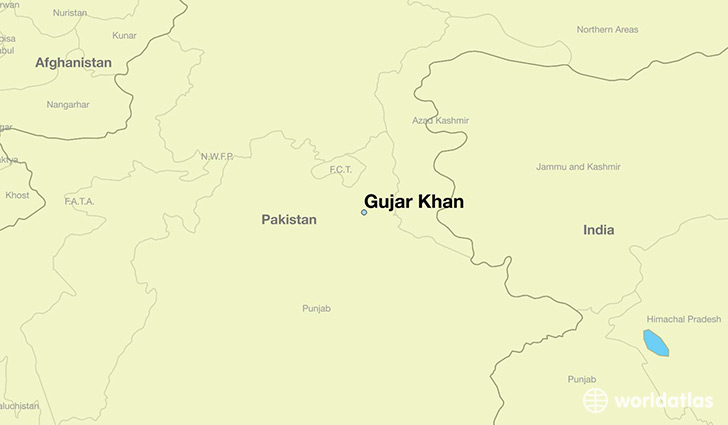 map showing the location of Gujar Khan