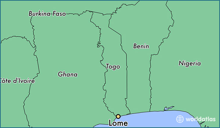 Where is Lome Togo Lome Maritime Map WorldAtlascom
