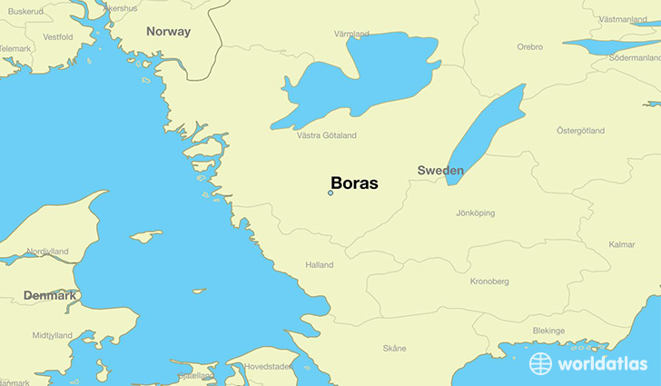 map showing the location of Boras