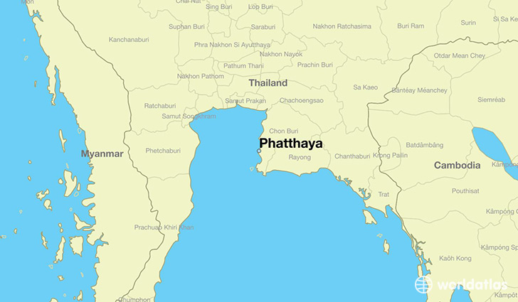 map showing the location of Phatthaya