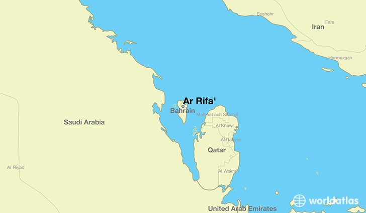 map showing the location of Ar Rifa'
