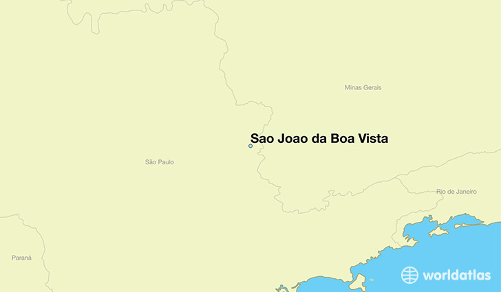 map showing the location of Sao Joao da Boa Vista