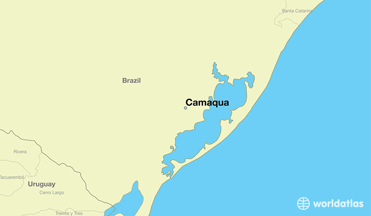 map showing the location of Camaqua