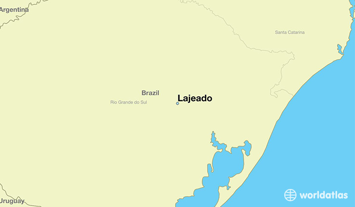 map showing the location of Lajeado