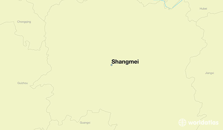 map showing the location of Shangmei