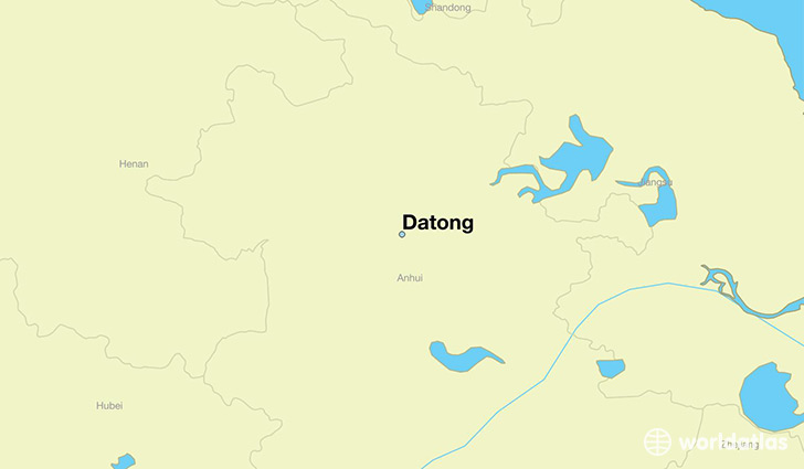 map showing the location of Datong