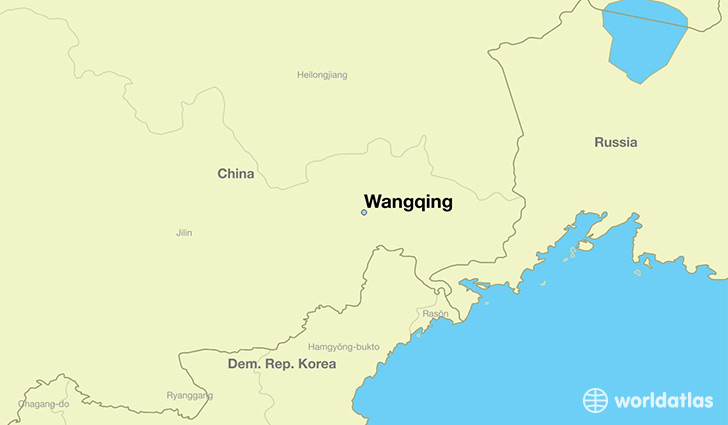map showing the location of Wangqing