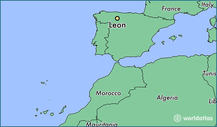 Where is Leon Spain Leon Castille and Leon Map WorldAtlascom