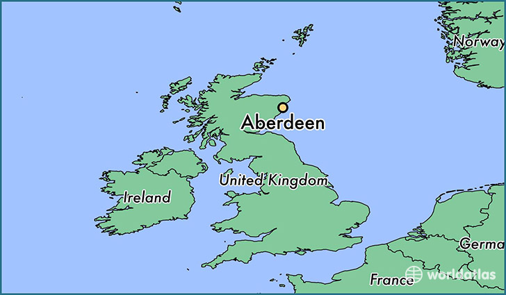 Map Of France And Scotland.Where Is Aberdeen Scotland Aberdeen Scotland Map Worldatlas Com