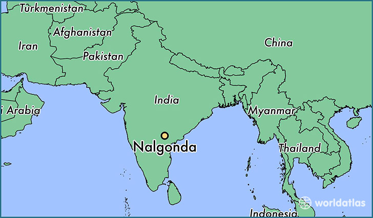 map showing the location of Nalgonda