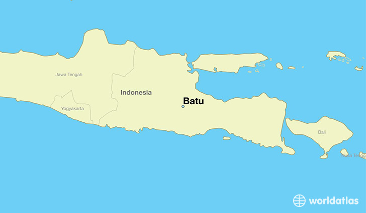 map showing the location of Batu