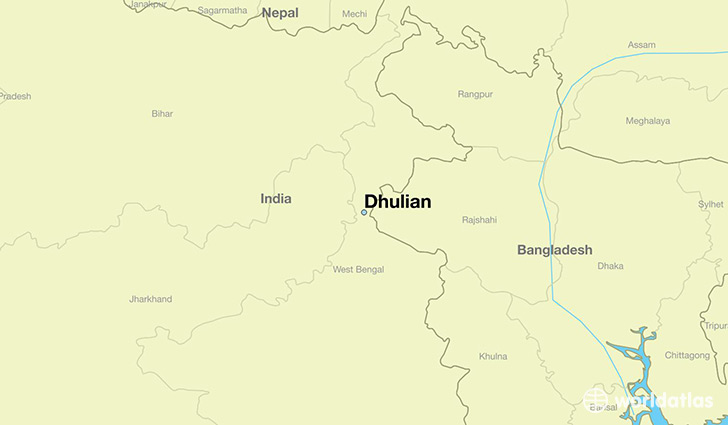map showing the location of Dhulian