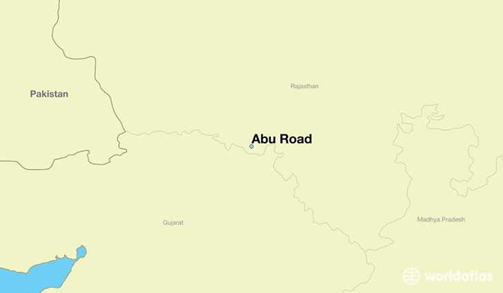 map showing the location of Abu Road