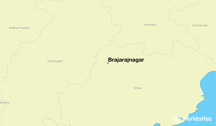 map showing the location of Brajarajnagar