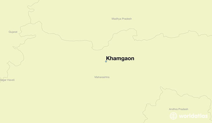 map showing the location of Khamgaon