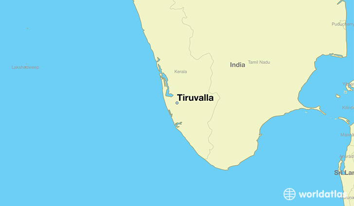 map showing the location of Tiruvalla