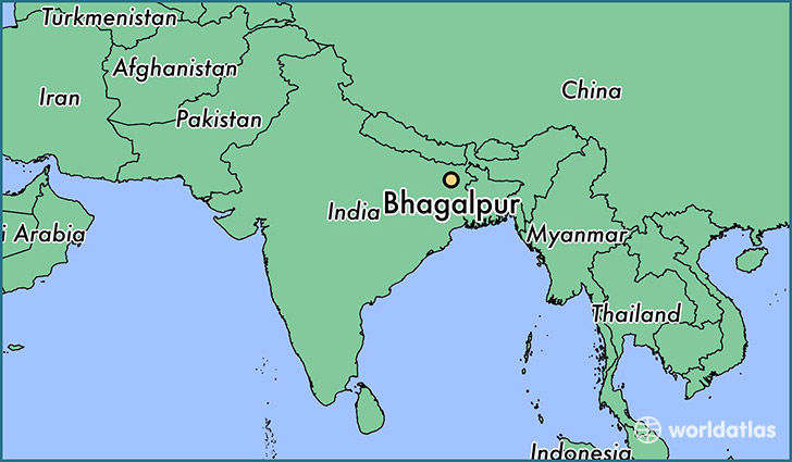 map showing the location of Bhagalpur