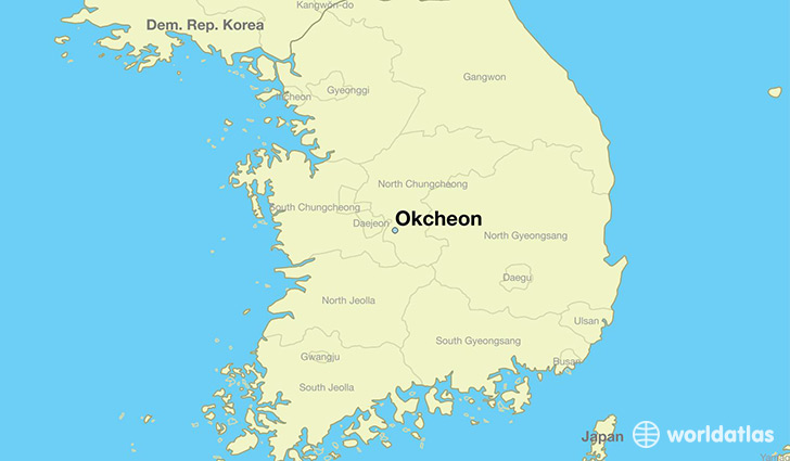 map showing the location of Okcheon