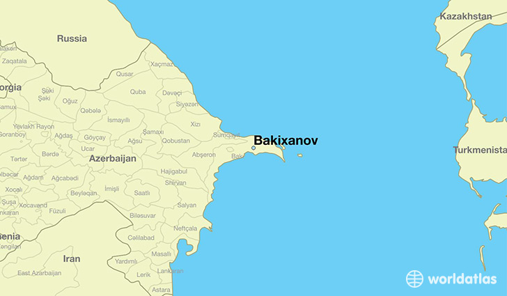 map showing the location of Bakixanov