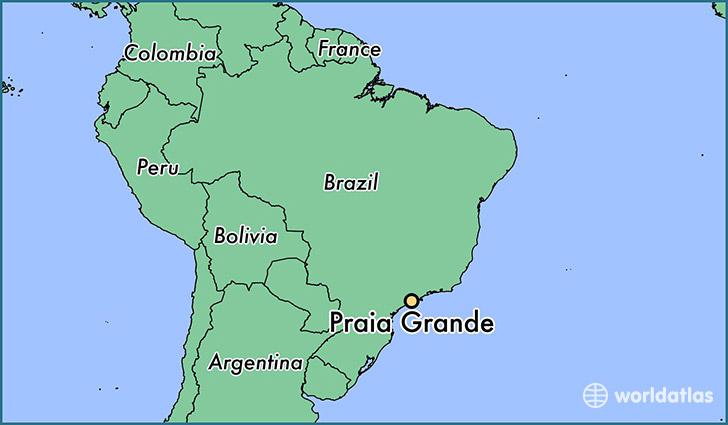 Where Is Praia Grande Brazil Praia Grande Sao Paulo Map - Praia map