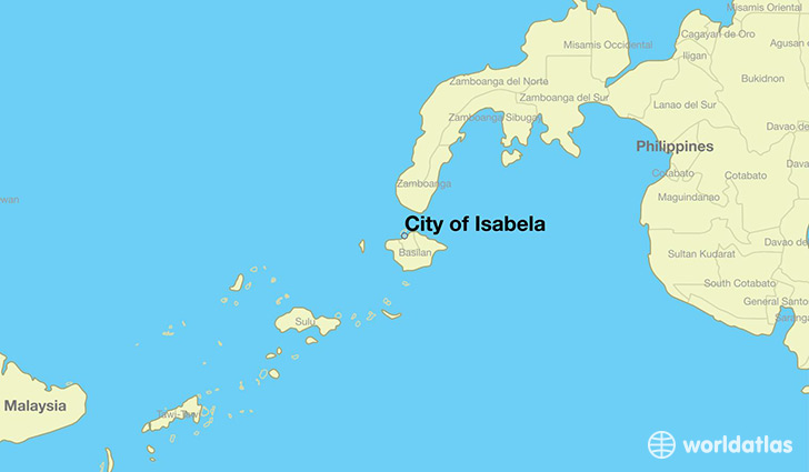 map showing the location of City of Isabela
