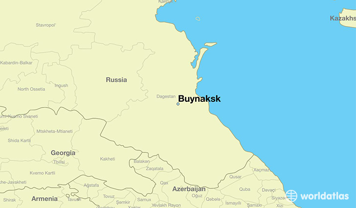 map showing the location of Buynaksk