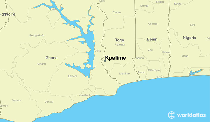 map showing the location of Kpalime