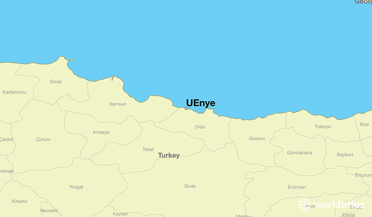 map showing the location of UEnye