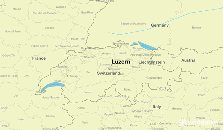 map showing the location of Luzern