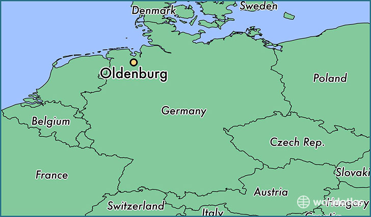 Where is Oldenburg Germany Oldenburg Lower Saxony Map