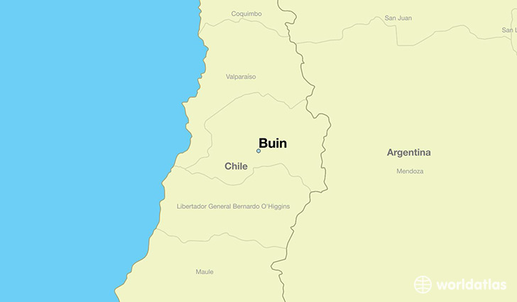 map showing the location of Buin