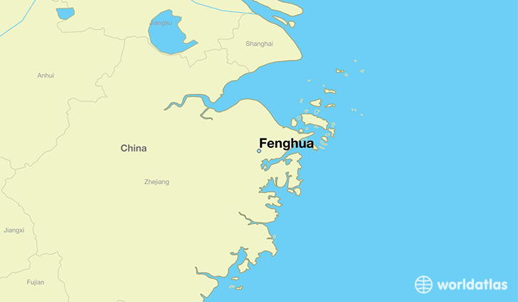 map showing the location of Fenghua