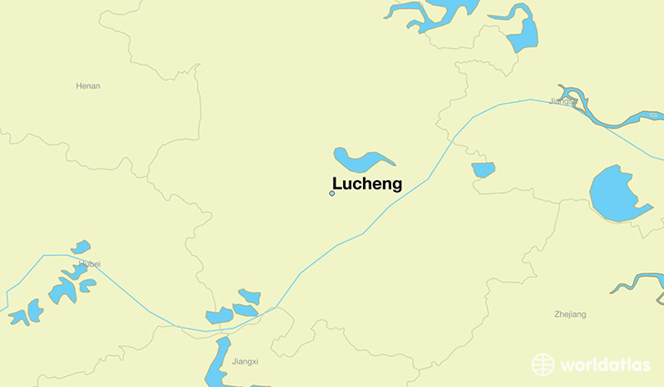 map showing the location of Lucheng