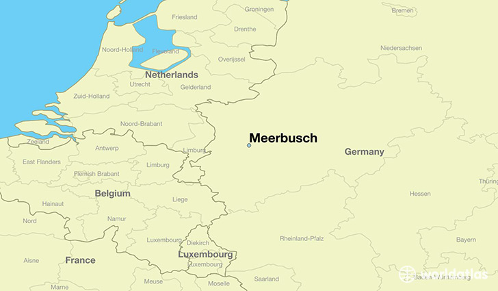 map showing the location of Meerbusch