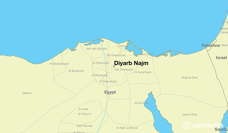 map showing the location of Diyarb Najm