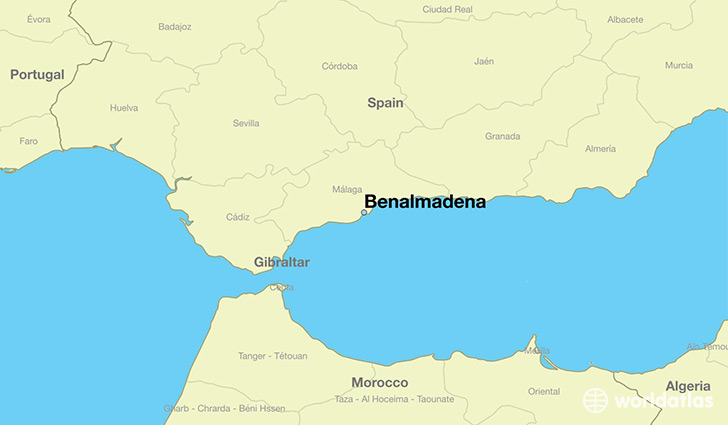 map showing the location of Benalmadena