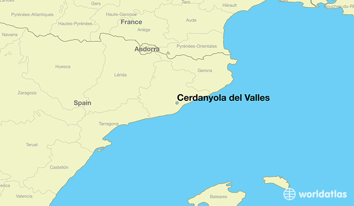 map showing the location of Cerdanyola del Valles